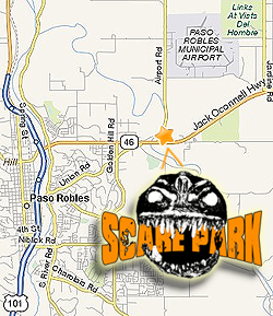 MapQuest to the Scare Park in Paso Robles